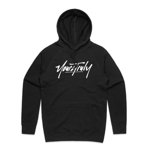 Yours Truly Logo Hoodie - Black - Yours Truly Clothing