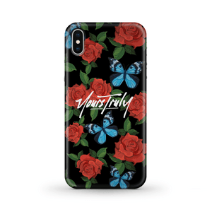 Yours Truly Butterfly Roses Phone Case PHONE CASE yourstrulyco