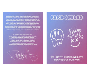 Fake Smiles Meaning Card - SIGNED (50 Available) - Yours Truly Clothing
