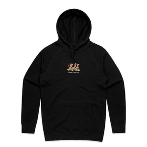 I Think I Love You Embroidered Teddy Hoodie - Black - Yours Truly Clothing