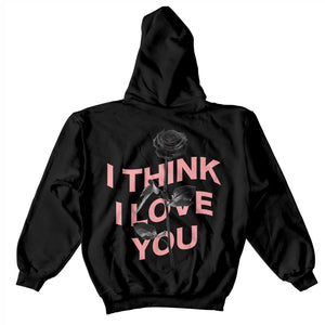 I Think I Love You Warp Hoodie - Black - Yours Truly Clothing