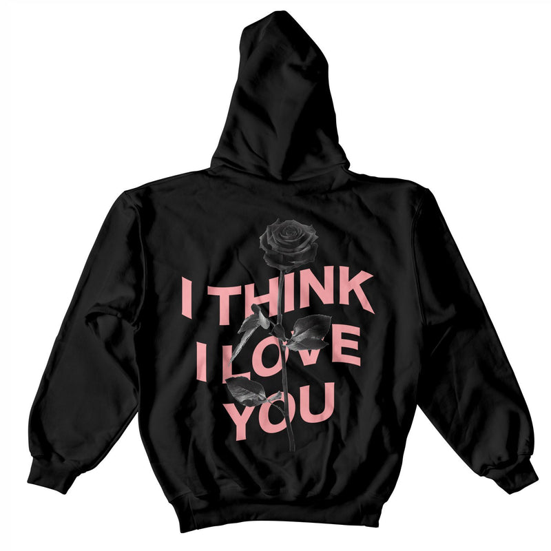 I THINK I LOVE YOU WARP HOODIE - BLACK