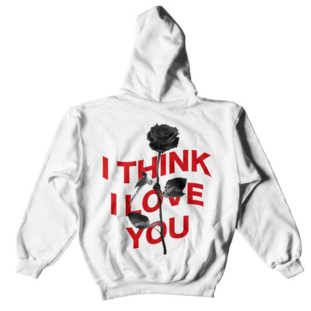 I THINK I LOVE YOU WARP HOODIE - WHITE