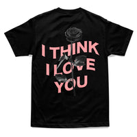 I THINK I LOVE YOU WARP TEE - BLACK