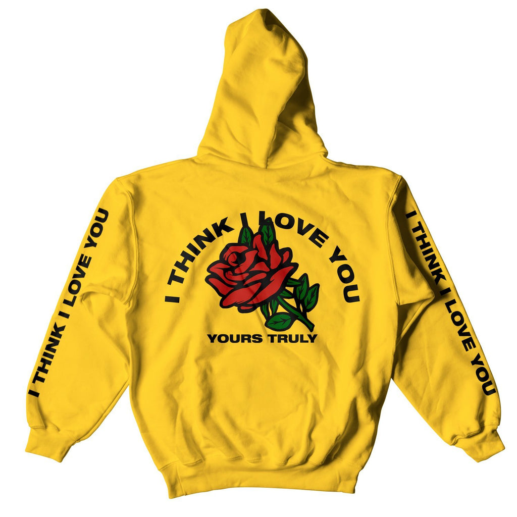 I THINK I LOVE YOU ROSE HOODIE - YELLOW
