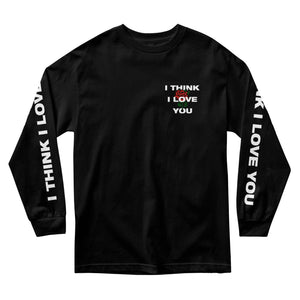 I THINK I LOVE YOU ROSE LONG SLEEVE - BLACK