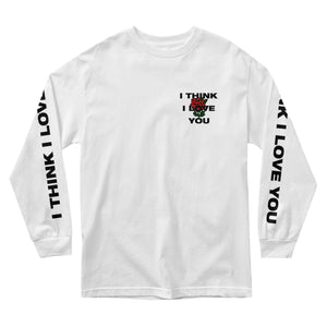 I Think I Love You Rose Long Sleeve - White - Yours Truly Clothing