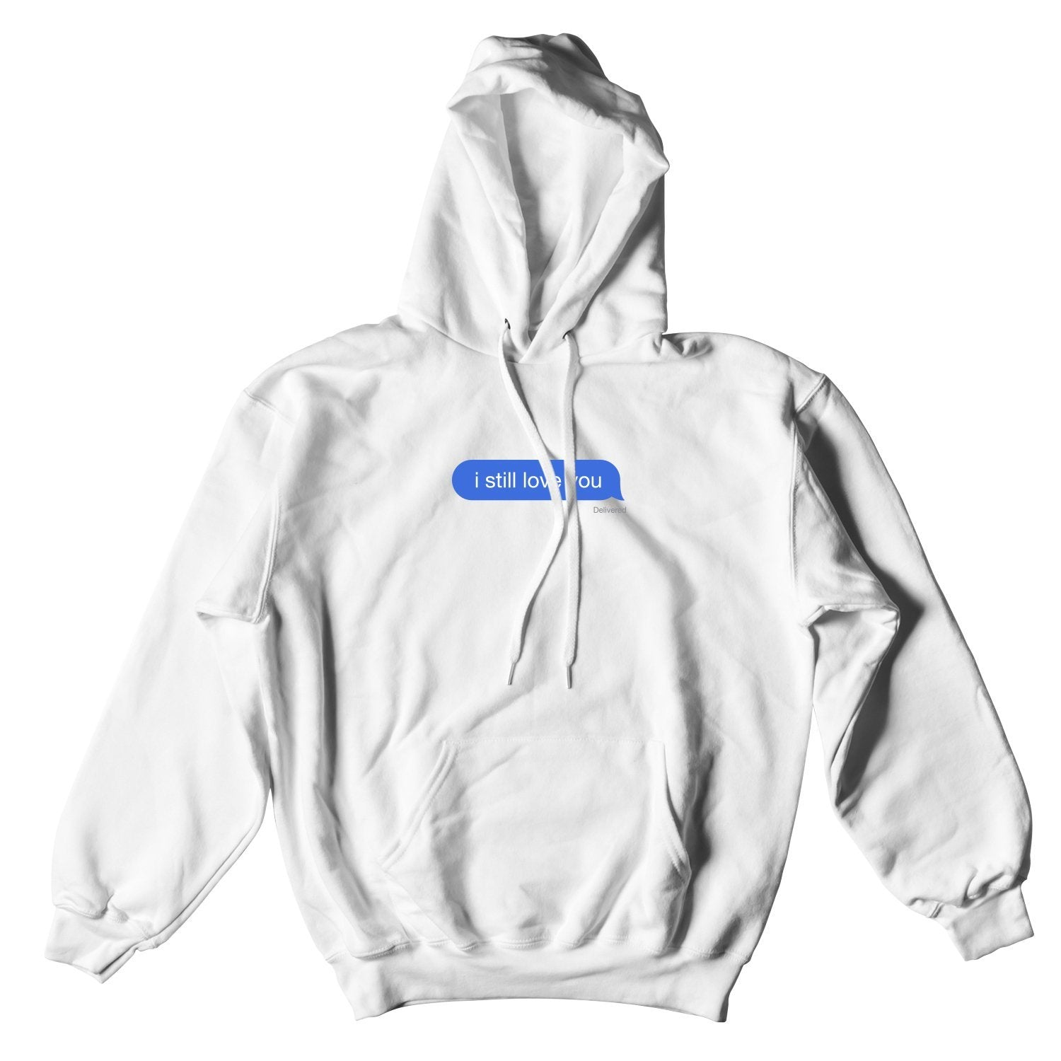 ISLY DELIVERED MESSAGE HOODIE WHITE