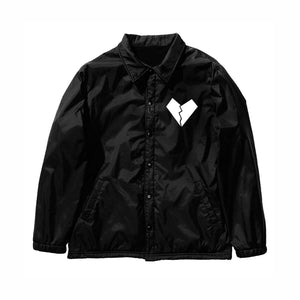LOVE IS HELL LOGO COACH JACKET