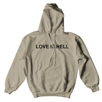LOVE IS HELL HOODIE - TAN