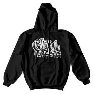 Phora Drip Hoodie - Black - Yours Truly Clothing