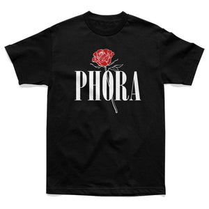 Phora Standing Rose Tee - Black - Yours Truly Clothing