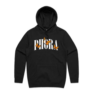 Phora Orange Butterfly Hoodie - Black - Yours Truly Clothing