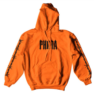PHORA BARBED WIRE HOODIE - ORANGE