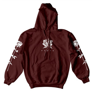 PHORA ROSE SLEEVES HOODIE - BURGUNDY