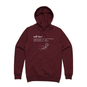 Meaning of Self-Love Hoodie - Burgundy - Yours Truly Clothing