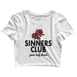 Sinners Club YTF Crop Tee - Yours Truly Clothing