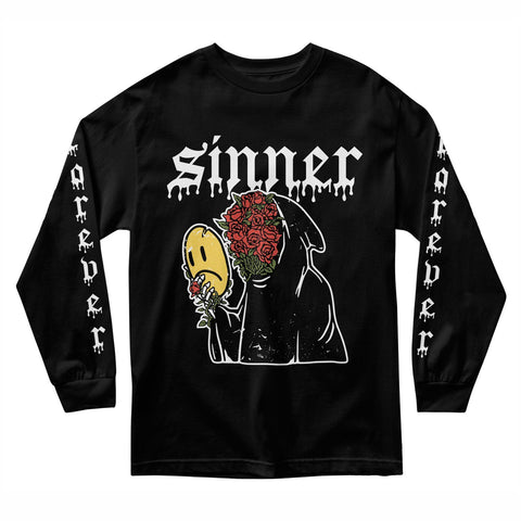 SAD SINNER LONG SLEEVE - BLACK