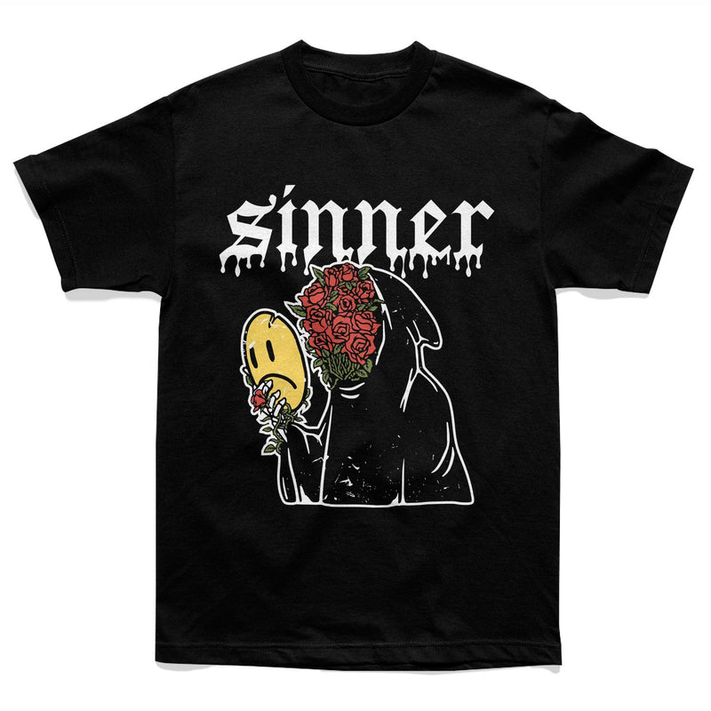 SAD SINNER TEE - BLACK