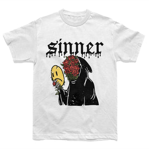 Sad Sinner Tee - White (Limited Drop) - Yours Truly Clothing