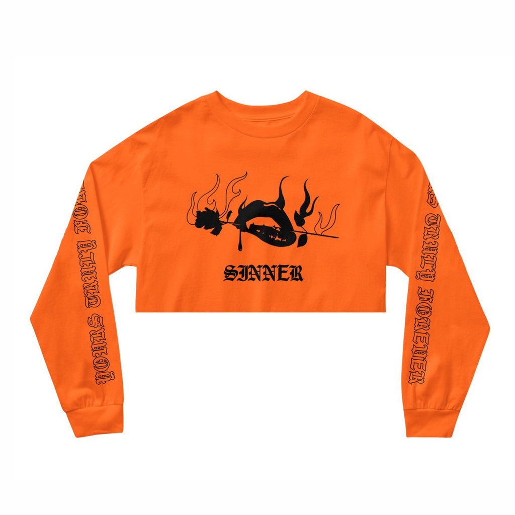 SINNER CROP LONG SLEEVE TEE