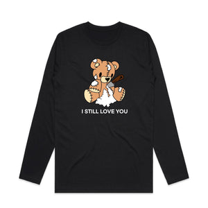 Torn Teddy Long Sleeve - Black - Yours Truly Clothing