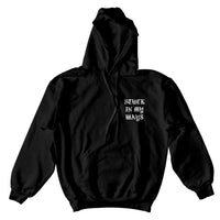 STUCK IN MY WAYS SKELETON HOODIE - BLACK