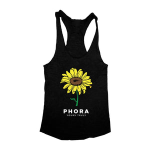 Sunflower Racerback Tank Top WOMEN'S TANK TOP yourstrulyco