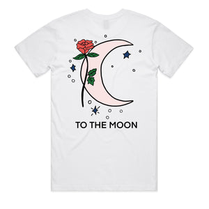 To The Stars Tee - White - Yours Truly Clothing
