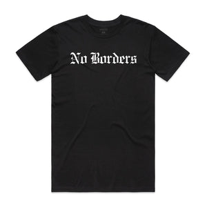 No Borders Tee - Black - Yours Truly Clothing