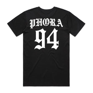 Phora 94 Tee - Black - Yours Truly Clothing