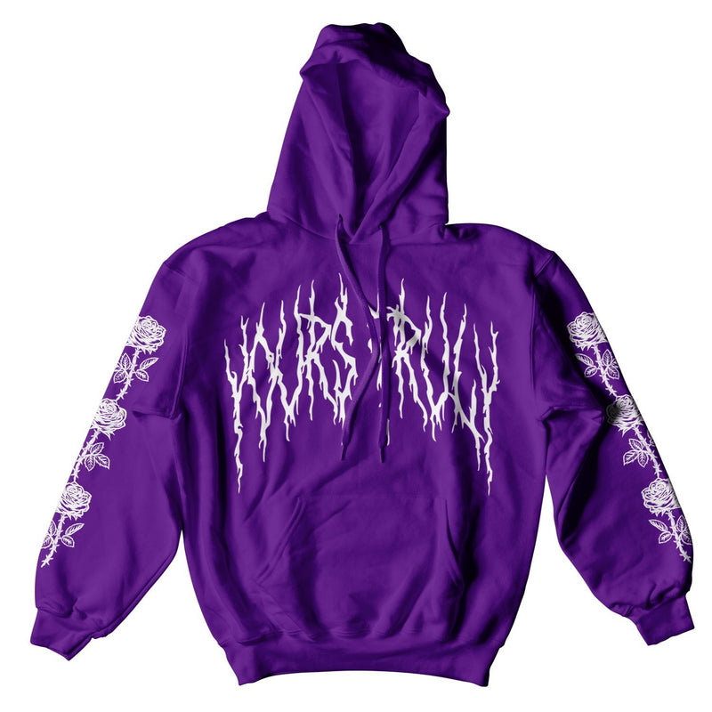 YOURS TRULY GOTH HOODIE - PURPLE