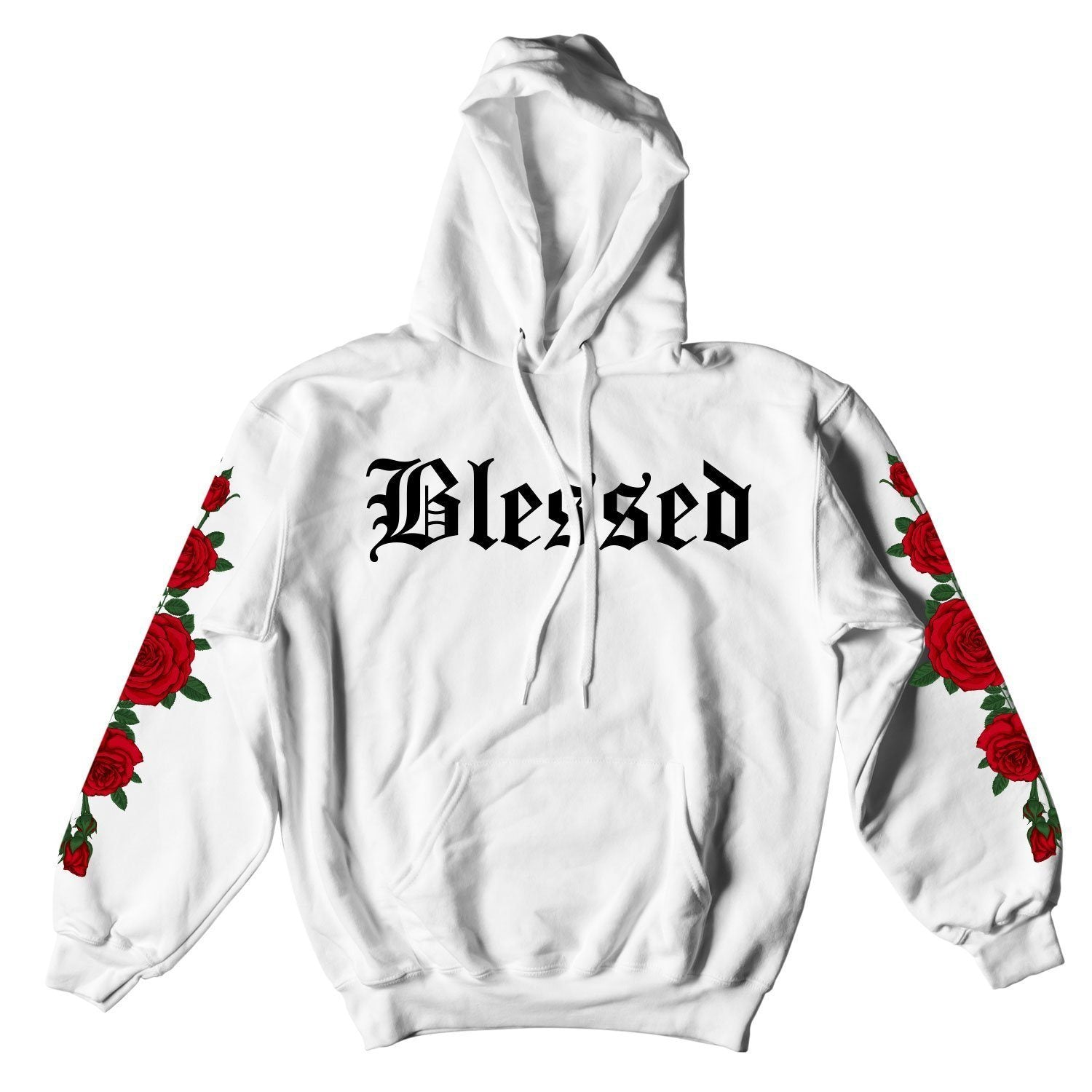 BLESSED ROSES HOODIE - WHITE – Yours Truly Clothing a7fca5e2542d7