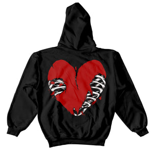 Heart of a Sinner Hoodie - Black - Yours Truly Clothing