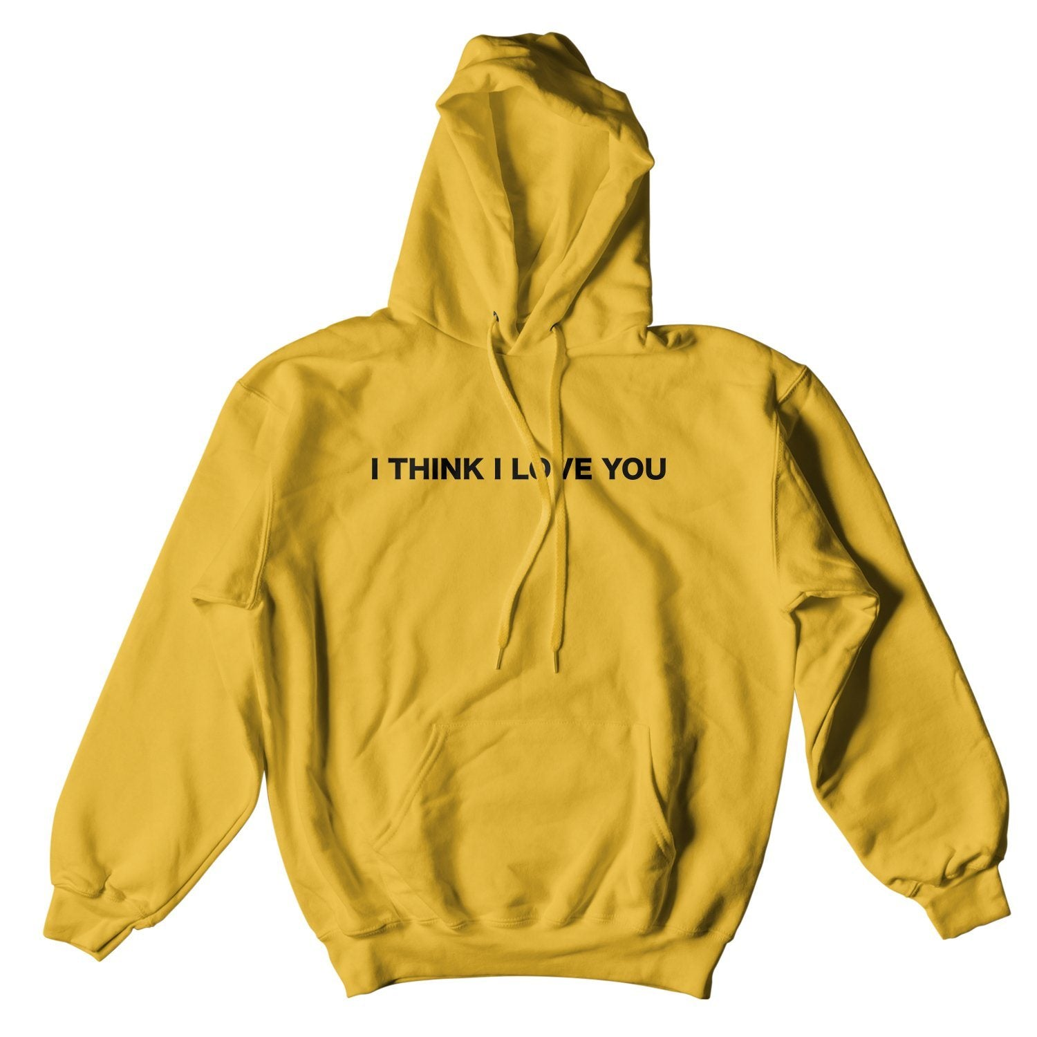 I THINK I LOVE YOU HOODIE - GOLD – Yours Truly Clothing ddd017f306e88