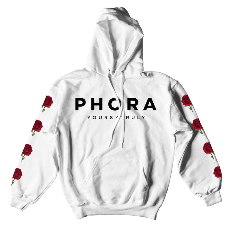 HOODIE - PHORA YOURS TRULY ROSES HOODIE - WHITE