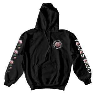 Yours Truly Forever 1994 Pink Roses Hoodie - Black HOODIE yourstrulyco