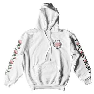 HOODIE - YOURS TRULY FOREVER 1994 PINK ROSES HOODIE - WHITE