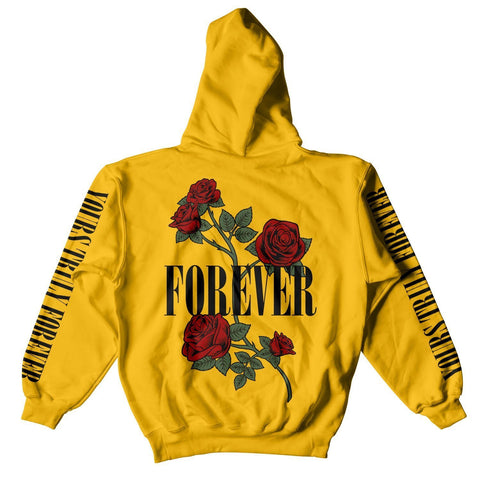 HOODIE - YOURS TRULY ROSES FOREVER HOODIE - GOLD