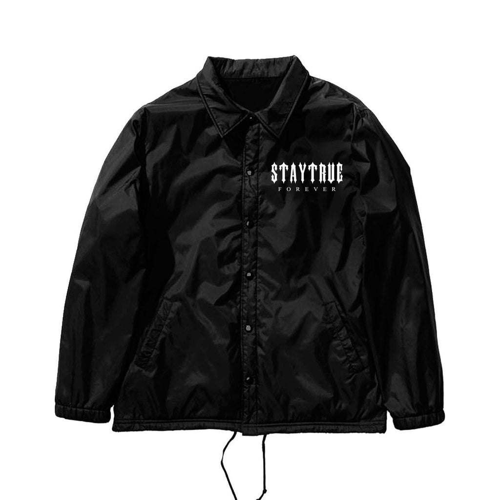 JACKETS - STAY TRUE FOREVER COACH JACKET - BLACK