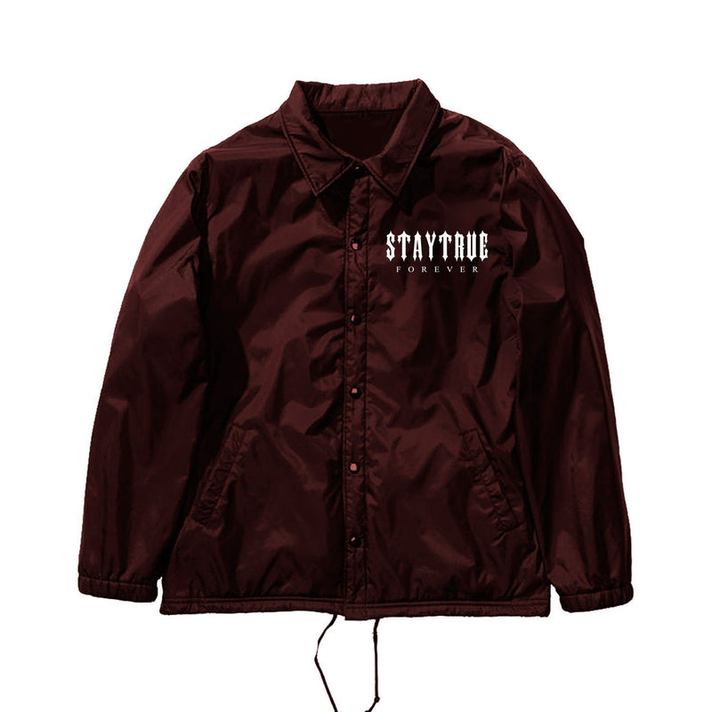 JACKETS - STAY TRUE FOREVER COACH JACKET - BURGUNDY