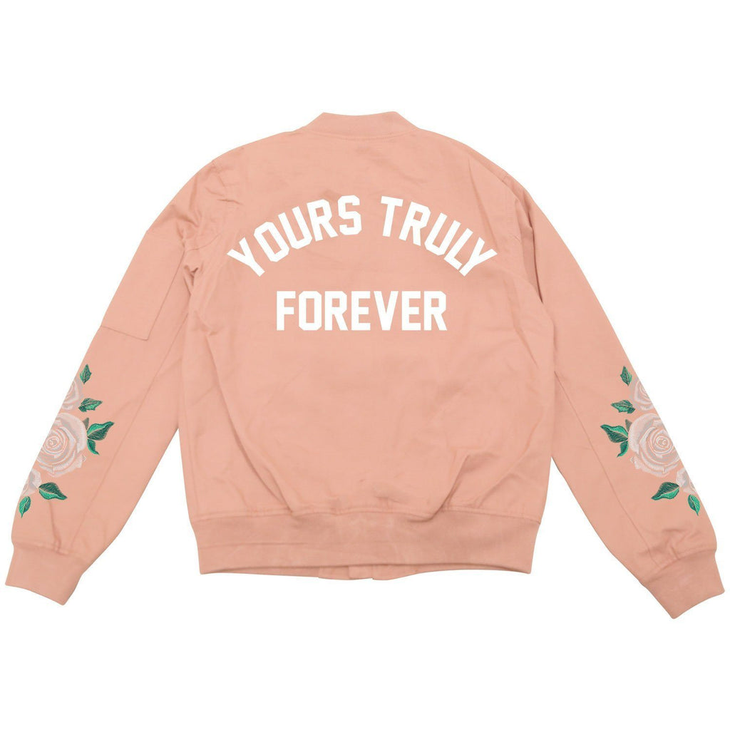 JACKETS - YOURS TRULY FOREVER BOMBER JACKET - PINK