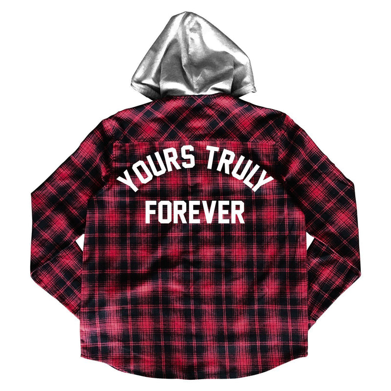 JACKETS - YOURS TRULY FOREVER FLANNEL - RED