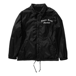 JACKETS - YOURS TRULY FOREVER ROSES COACH JACKET - BLACK