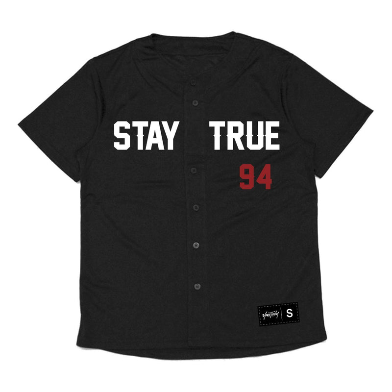 JERSEY - STAY TRUE 94 BASEBALL JERSEY - BLACK