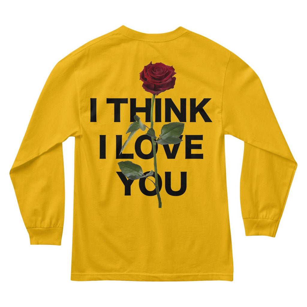 MEN'S LONG SLEEVE TEE - I THINK I LOVE YOU LONG SLEEVE - GOLD