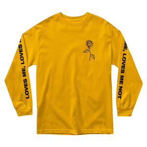 Love Me Love Me Not Long Sleeve - Gold - Yours Truly Clothing