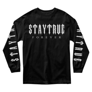 MEN'S LONG SLEEVE TEE - STAY TRUE FOREVER LONG SLEEVE - BLACK