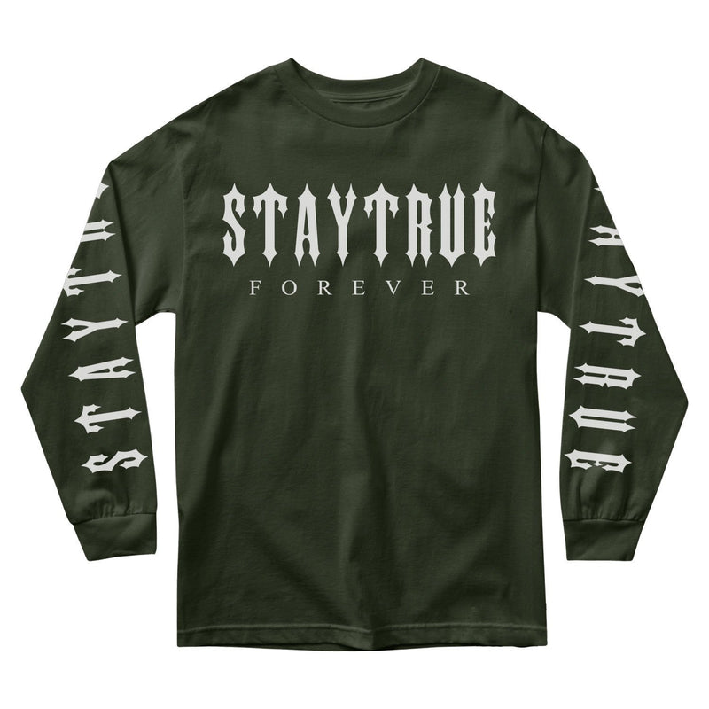 MEN'S LONG SLEEVE TEE - STAY TRUE FOREVER LONG SLEEVE - OLIVE