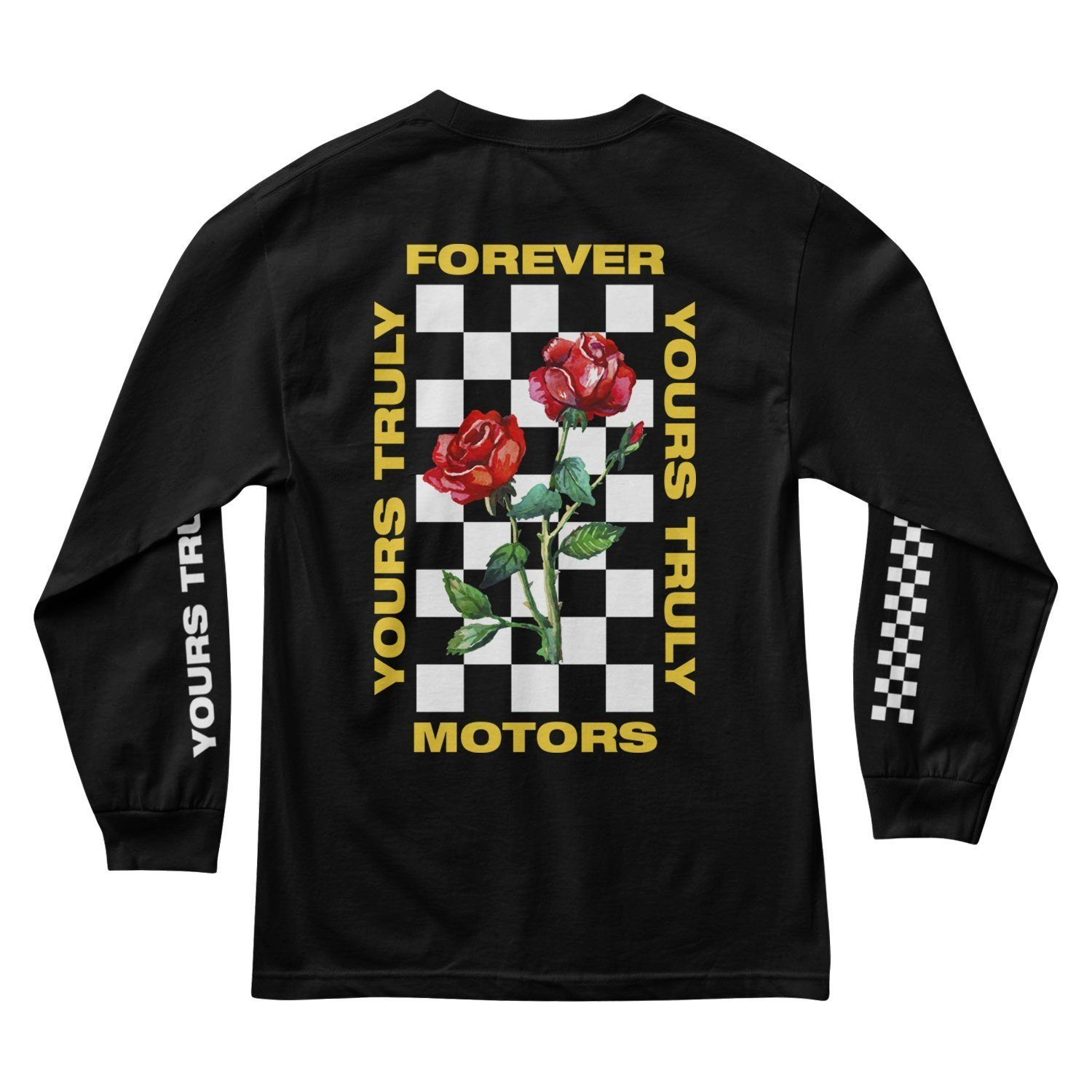 Yours Truly Forever Motors Long Sleeve - Black